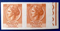 Italy, Repubic - Lot of 2 variations - 'Siracusana' and high denominations - Sass.  No.  683Ea and 1056Ab