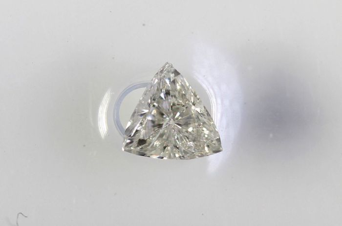 Trilliant Diamond - 0.11 ct - F, SI2 - Without Reserve Price