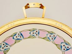 Cake plate, ceramic, brass, attributed to WMF - Jugendstil / Art Nouveau