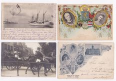 Dutch Royal Family - 100 x - with a number of unique cards and many beautiful cards from the period 1900-1920