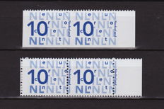 The Netherlands 2005 - Stamp, misprints - NVPH 2135c pair, partially imperforate and shifted perforation