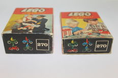Vintage - 2 boxes Lego System no. 270 Road Users - 1958/1960