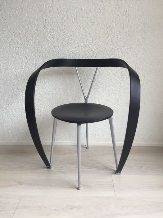 Andrea Branzi for Cassina – revers chair in black