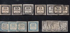 France 1850/1900 – Tax collection.