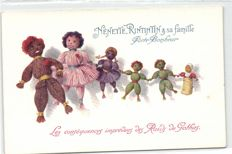 Dolls, bears and toys 98 x-fantasy cards including some by Kathe Kruse-period:1900/1960