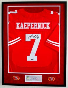 Colin Kaepernick original signed San Francisco 49ers Jersey - Premium Framed + Certificate of Authenticity