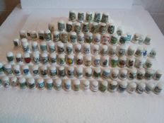 Collection of 105 different timbles - Collection of 105 thimbles