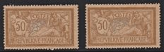 France 1900 - Merson 50 c. brown and grey - Yvert No. 120