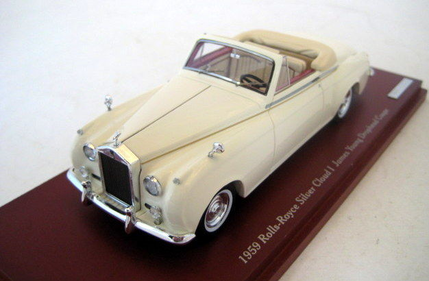 TSM - Scale 1/43 - Rolls Royce Silver Cloud I James Young Drophead Coupe  1959 - White - Catawiki