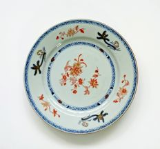 Blue and iron-red plate (ex Bonhams) - China - ca. 1750