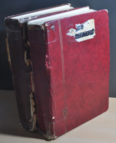 World - collection in 2 thick stuffed stock books