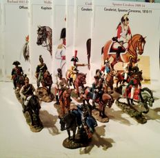 Cavalry of the Napoleonic Wars: Lot with 10 riders on horseback - 2007