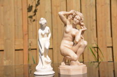 Alabaster Aphrodite of Rhodes and a young Venus