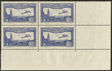 France 1930 - Airmail, 1.50 Fr bright overseas, signed Roumet with certificate – Yvert n° 6b