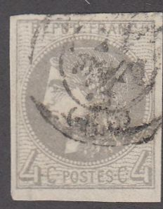 France 1870 - 4c grey cancelled - Yvert no. 41B