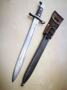 Swiss Bayonet M1889 for Schmidt-Rubin whith sheath and frog - oldest of the family