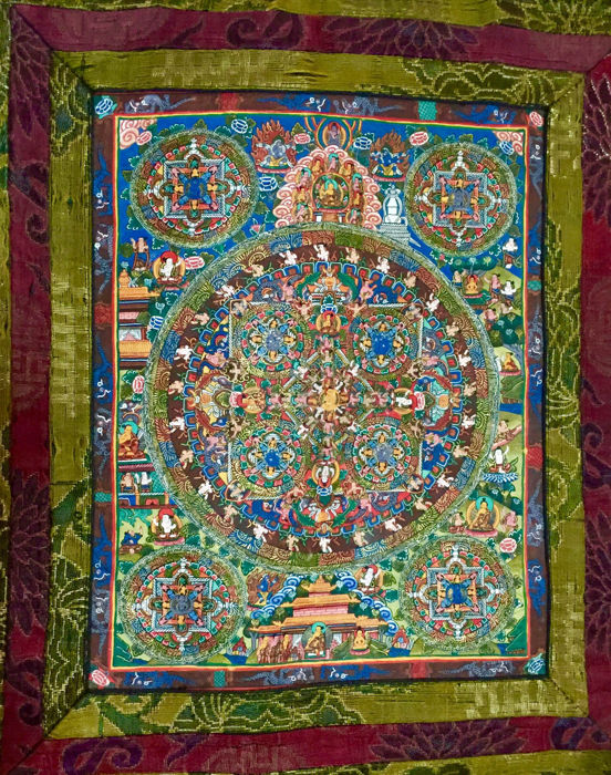 Mandala Thangka Pauwa - Nepal - second half 20th century