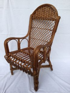 Old French wicker child's chair - France - circa 1950