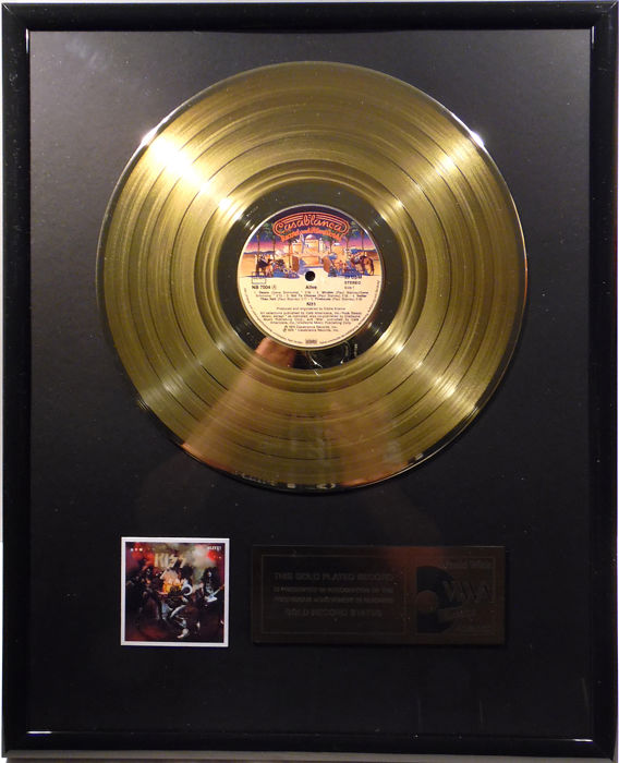 "KISS - Alive -  12"" german Casablanca record gold plated record by WWA Awards"
