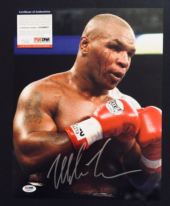 Mike Tyson /  Original Amazing Professional Signed Photo ( 28x35cm ) - with Certificate of Authenticity PSA/DNA