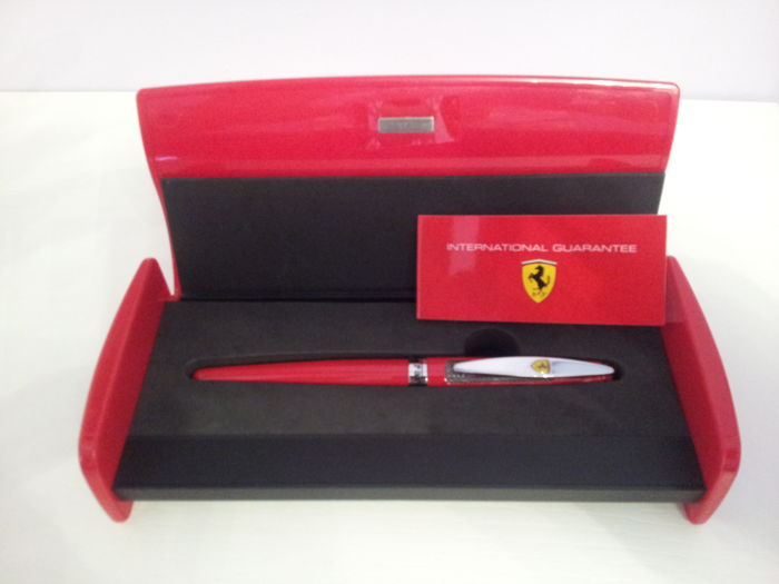 ferrari fountain pen never used in a spoiler-shaped box - catawiki