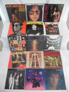 Beautiful Lot of - 15 Albums - In Various Top-Rock Bands & Stars - Jimi Hendrix - Doors - Rolling Stones ( 2 ) - Lou Reed - David Bowie - The Who