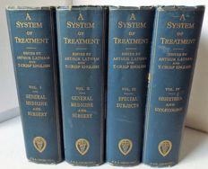 Arthur Latham [editor] - A System of Treatment - Four volumes - 1912