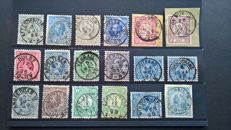 The Netherlands - collection of classic stamps on 11 stock cards