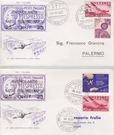 Republic of Italy, 1961-1999 - Collection of 250 envelopes including FDC, postcards and aerogrammes