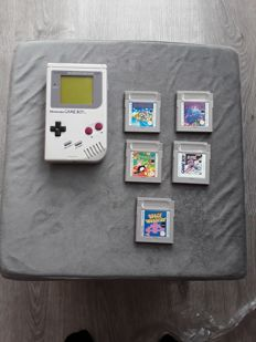 Nintendo Gameboy (1989/DMG -01)  incl 5 games
