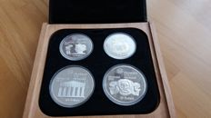 Canada - coin set 1976 Olympic Games Montreal (2 x 5 and 2 x 10 dollars) - silver
