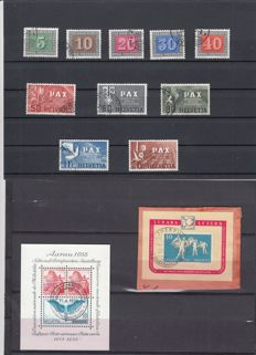 Switzerland 1929/1951 - Batch of stamps and blocks