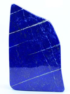 Finest Quality Royal Blue Lapis Lazuli tumble with Golden Pyrite - 180 x 108 x 33mm - 1620gm