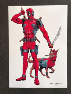 Marvel Comics – Deadpool - Signed Lithograph By Martin Griffiths