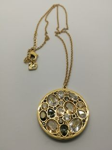 Swarovski - Round Pendant Covered in Crystals with Chain