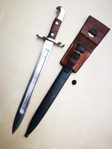 Swiss bayonet M1889 for Schmidt Rubin (first model - the oldest of the family) in very good condition.