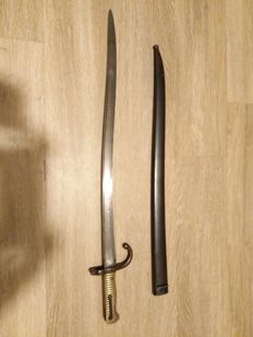 M1866 Egyptian sword/bayonet with matching scabbord