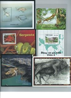 Topical animal collection Stamps, blocks and decorative sheets.