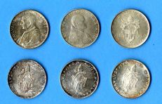 Vatican - Lot of 85 Coins from 1866 to 1999 - 6 are Silver, 5 Popes