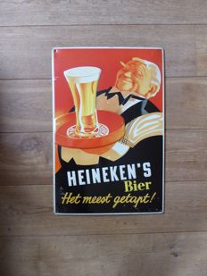 Heineken advertising sign from the 1990s in good condition