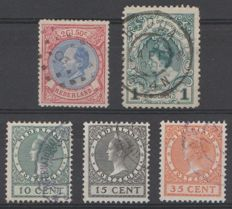 The Netherlands 1872/1924 - King Willem III, Coronation guilder and Exhibition stamps - NVPH 29, 49, 136/138