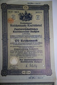 102 German Pfandbriefe from the years 1926 to 1943