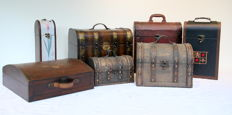 Lot of 7 beautiful wine cases/boxes