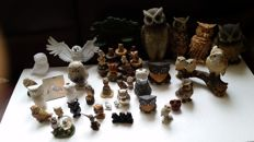 Collection of 40 owls
