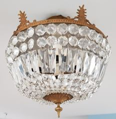Crystal ceiling lamp 2nd half 20th century