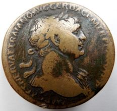 Roman Empire - AE Sestertius of Trajan (98–117 A.D.)