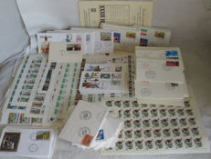 Italian Republic - 1970-1990 - Comprehensive Lot Containing FDC Whole Sheets, Aerogrammes, Post Cards, and Pony Envelopes