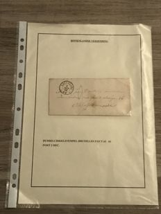 Belgium 1865/1867 - Selection of forerunning ship's mail and judicial letters