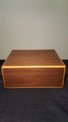 Cigar box humidifier, Walwood brand.