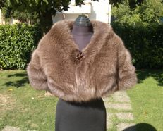 Fox Fur Stole Coat/Cape - Pelzmantel - Colour: Sable
